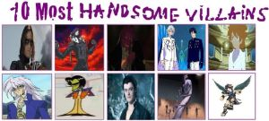 Top 10 Handsome Villains by KessieLou
