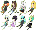 AMOUR SUCRE CHIBIS by Happy-Tan