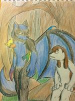 Wolfy meets Laika by WerewolfProtecter