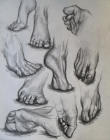 Feet Study by N-B-R-artwork