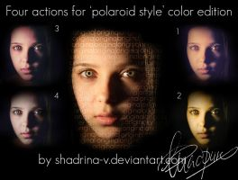 Four Polaroid Style Actions by shadrina-v