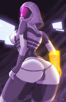 Fate's Marathon Day 3: Tali'Zora vas Normandy by Fatelogic