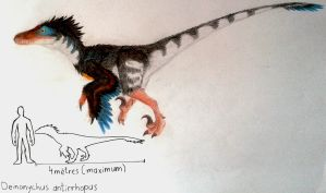 Deinonychus antirrhopus by ZeWqt