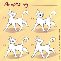 Free Cat Adopts Base [MS PAINT friendly] by Nahemii-chan