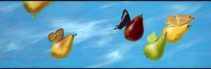Fly By Pears by LindaRHerzog