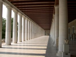 Stoa of Attalos 6 by AreteStock