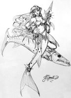 Barracuda Mermaid by Chael