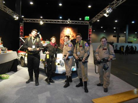 EpicCon Frankfurt 2016 cosplay: Ghostbusters panel by Lalottered