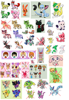 HUGE adopt clean-out 3 - 10 points each (OPEN) by ForeverFluffyAdopts