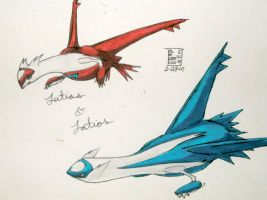 Latias and Latios picture by Kagamikage