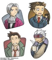 Phoenix Wright Characters by sammich