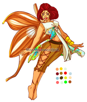 Butterfly Babe Adoptable :OPEN: by MissMignonne