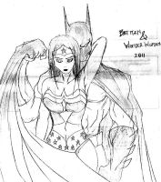 Batman and Wondie Sketch by kurotsuchi-666