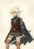 Dark Elf Ranger Nienna by ansseta2