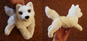 White wolf - small floppy by goiku