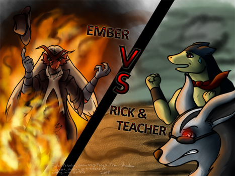 Fallen Paradise- Ember Vs Team- Rick and Teacher by Fangy-From-Shadow