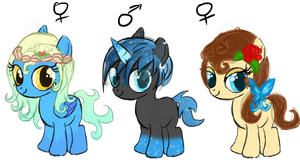 Adoptable filly batch CLOSED by Lost-in-Equestria