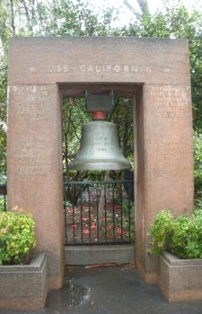 USS California BB-44 Bell at Calif. State Capitol by rlkitterman