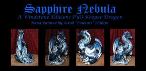 Sapphire Nebula PYO Windstone Keeper Dragon by Eviecats