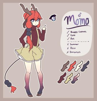 Momo Reference Sheet by Redia-n