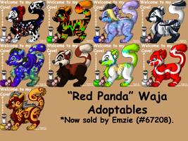 Red Panda Adoptables by JwalsShop