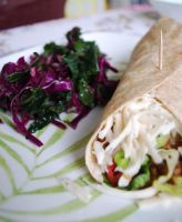 Vegan Burrito and Salad by BlueBluebutterfly05