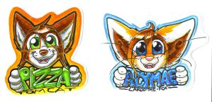 Pizza and Alymae Badges by T-Ingles