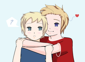 APH: DenSu for twin-deer :3 by Mayiay