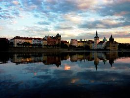 Prague reflexion by LaRoseDePetitPrince