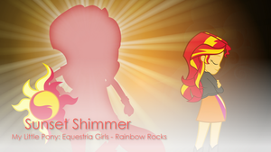 Sunset Shimmer - MLP:EG - Rainbow Rocks Wallpaper by Joeycrick