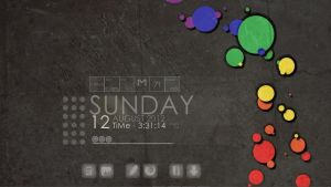 Translucent Grey Rainmeter Theme by hodgepodgejunk