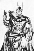 Catwoman/Batman by Ed-Benes-Studio