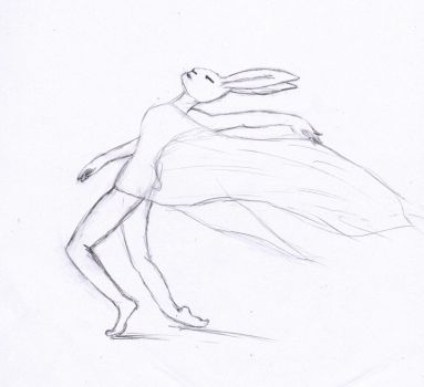Dancing Hare by Laykha
