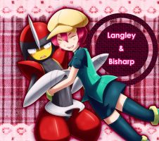 Langley and Bisharp!! by caesurio