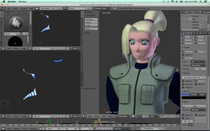 Ino Yamanaka - Skinned Rigged Textured (mostly) by Vysselle
