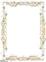 golden frame with gems png by Melissa-tm
