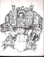 Chaplain Dreadnought by sanjayblack