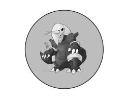 Aggron Button by R3YD1O
