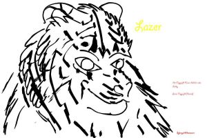 First Commission Lazer Tiger by Sykmynd