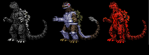 Godzilla '54 sprite attack pack by Gyaos2008