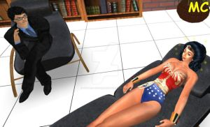 Wonder Woman's Hypno-Therapy Session by The-Mind-Controller