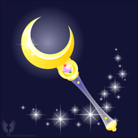 VECTOR MOON - manga Moon Stick v1 by Hybryda
