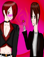Iori Yagami And Kyo Kusanagi Request forLillyGamer by JedahDohmaPC