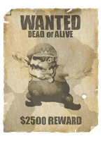 Wario's Wanted Poster by Raxby