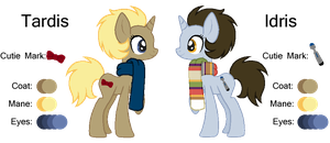 MLP:Tardis and Idris Profile by kiananuva12
