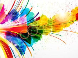 Free Colorful splash vector by vectorbackgrounds