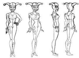 Harley Quinn Model Sheet II by Nes44Nes