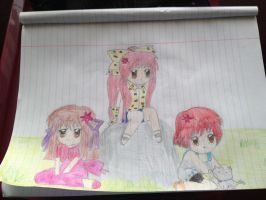 Me and My friends anime style by Evanlovesyou