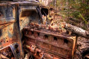 HDR Old Car Engine by Nebey