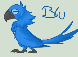 Blu standing by Sultastic